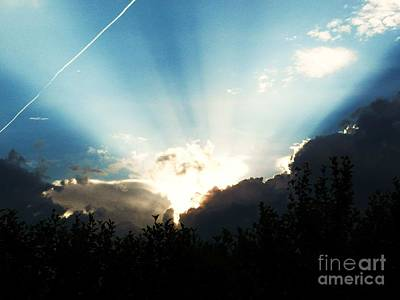 Photograph - Heavens Light by Judy Via-Wolff