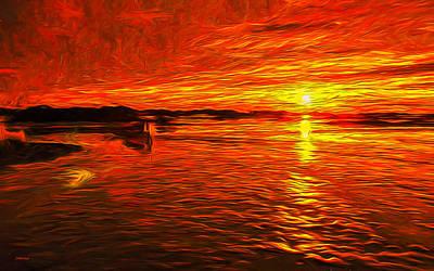 Heavens Of Fire Art Print
