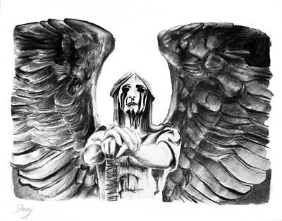 Crying Drawing - Heaven's War by Danny Dickerson