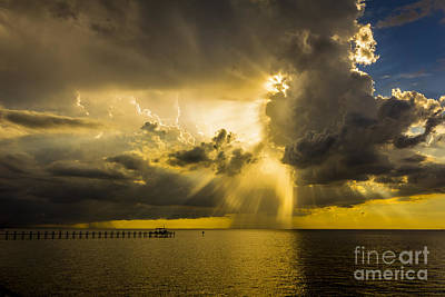 Boat Pier Photograph - Heavens Window by Marvin Spates