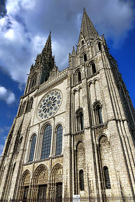Chartres Photograph - Heavenward by Olivier Le Queinec