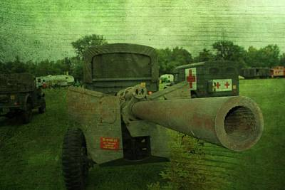 Strong America Photograph - Heavy Artillery In World War 2 by Dan Sproul