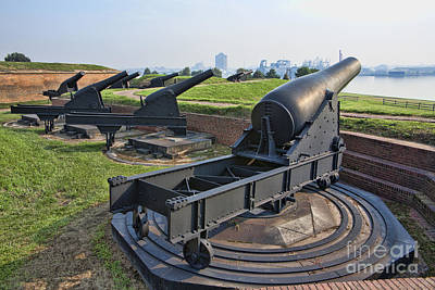 Photograph - Heavy Cannon At Fort Mchenry In Baltimore Maryland by William Kuta