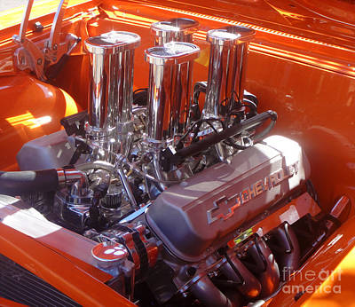 Painting - Heavy Chevy Motor by Gregory Dyer