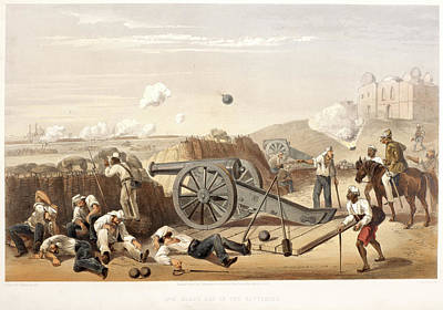 Heavy Day In The Batteries Art Print by British Library