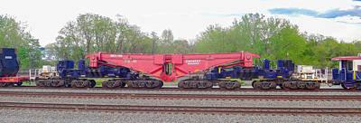 Photograph - Heavy Lift 1m Pound Capacity Schnabel Railcar By Emmert International by Jeff at JSJ Photography
