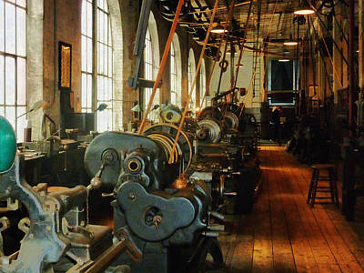 Photograph - Heavy Machine Shop by Susan Savad
