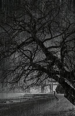 Wave Mixed Media - Heavy Rain by Svetlana Sewell