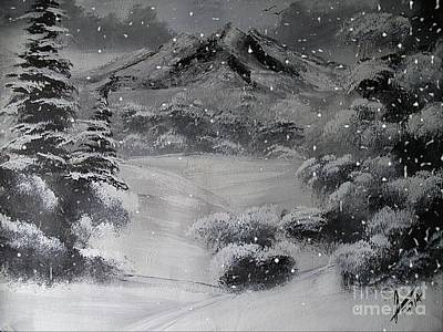 Winter Painting - Heavy Snowfall by Collin A Clarke