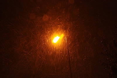 Art Print featuring the photograph Heavy Snows By Lamplight by Jean Walker