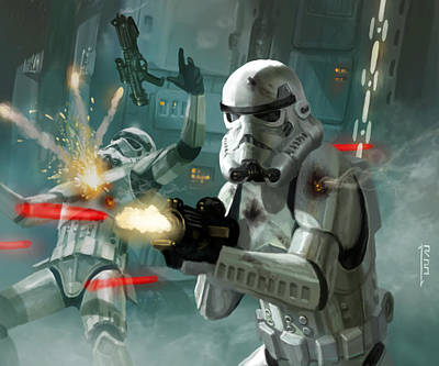 Stars Digital Art - Heavy Storm Trooper - Star Wars The Card Game by Ryan Barger
