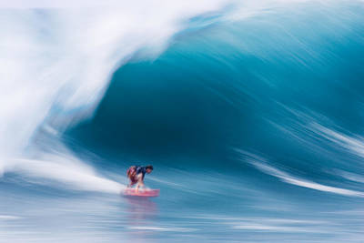 Surfing Photograph - Heavy Water Speed by Sean Davey