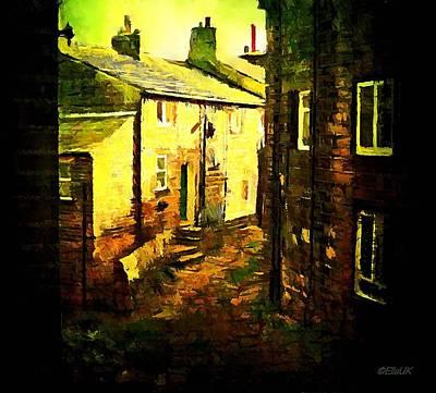 Hebden Bridge Alley Art Print