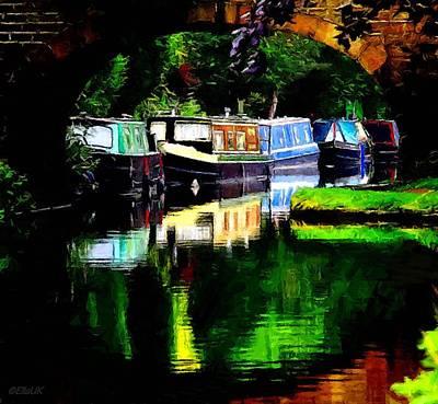 Hebden Bridge Canal Art Print