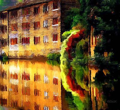 Hebden Bridge Water Art Print