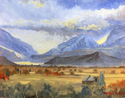 Painting - Heber Valley Sunset by Jeff Brimley