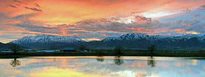 Photograph - Heber Valley Sunset by Johnny Adolphson