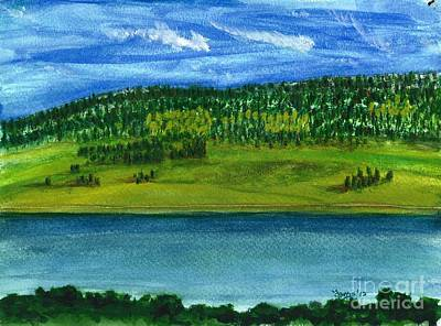 Painting - Hebgon Lake 2 by Larry Farris