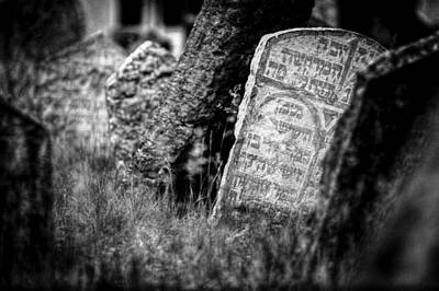 Photograph - Hebrew Gravestone Prague by John Magyar Photography