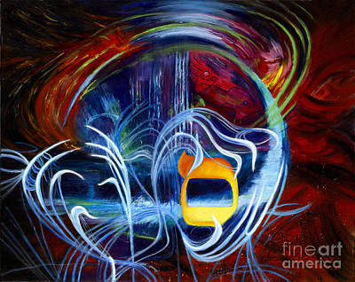 Inner Search Painting - Hebrew Letter Samekh by Knecht Yasha