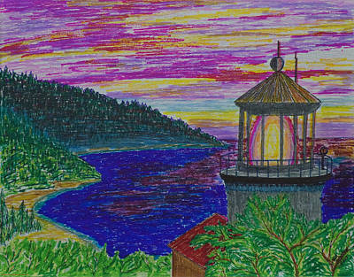 Photograph - Heceta Head Colorful Sunset by Mick Anderson