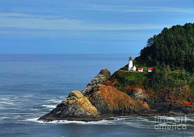 Photograph - Heceta Head Lighthouse 3 by Mel Steinhauer