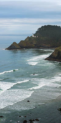 Photograph - Heceta Head Lighthouse Long View by Mark Robert Rogers