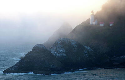 Heceta Head Lighthouse On The Oregon Art Print