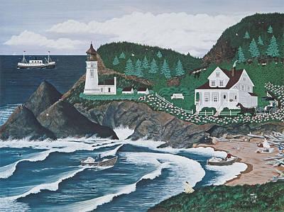 Painting - Heceta Lighthouse by Jennifer Lake