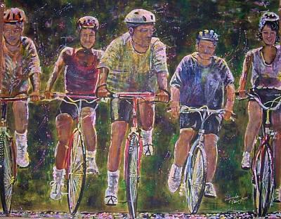 Heck On Wheels Art Print by Linda Vaughon