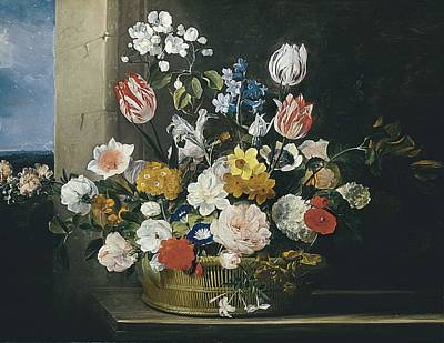 Antwerpen Photograph - Hecke, Jan Van Den 1620-1684. Flowers by Everett