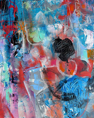 Art Print featuring the painting Hectic by Katie Black