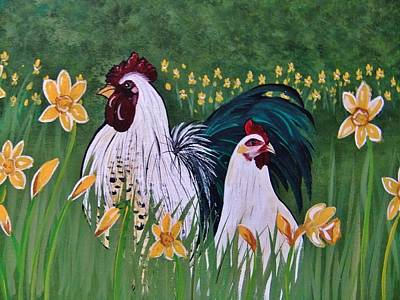 Painting - Hector And Henreitta Spring Stroll by Cindy Micklos