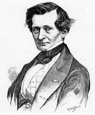 Drawing - Hector Berlioz by English School