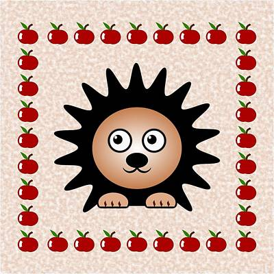 Digital Art - Hedgehog - Animals - Art For Kids by Anastasiya Malakhova