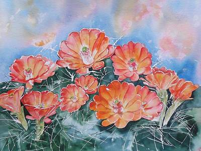 Painting - Hedgehog Cactus Flower Prescott Arizona by Sharon Mick