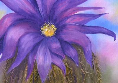 Painting - Hedgehog Cactus Flower  by Sharon Mick
