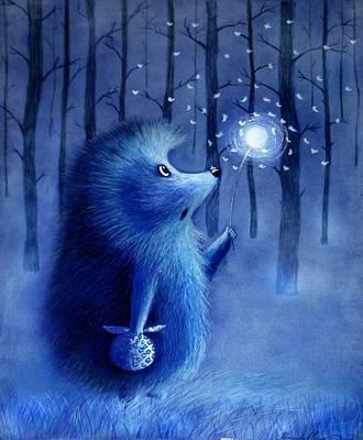 Hedgehog In The Hog  Art Print