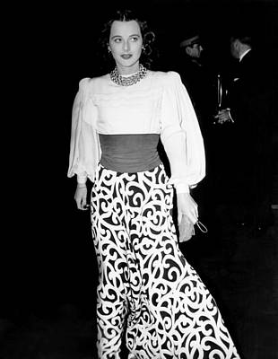 Hedy Lamarr, At The Premiere Of They Art Print