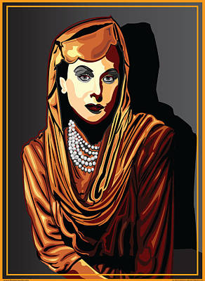 Hedy Lamarr  Hollywood The Golden Age Art Print by Larry Butterworth
