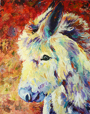 Mix Medium Painting - Hee Haw by P Maure Bausch