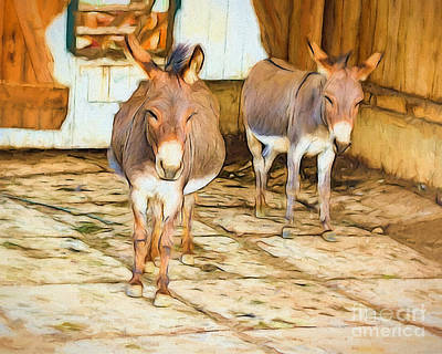 Donkey Digital Art - Hee Haw by Terry Weaver