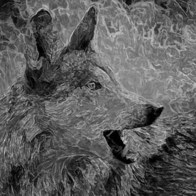 Wild Dog Digital Art - Heed My Warning by Ernie Echols