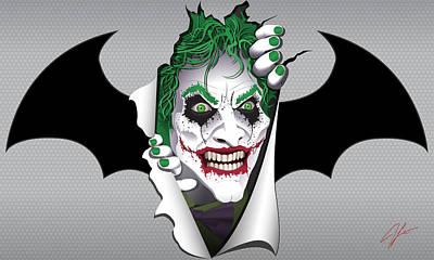 James Lewis Digital Art - Heeeeeeeres Joker Too by James Lewis