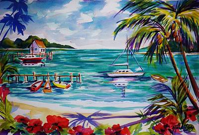 Heeia Bay Pier On Oahu Print by Therese Fowler-Bailey