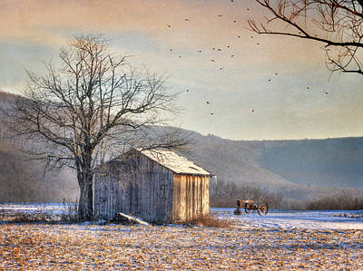 Digital Art - Hegins Horse Stable by Lori Deiter
