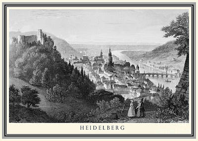 Photograph - Heidelberg Etching by Rudi Prott