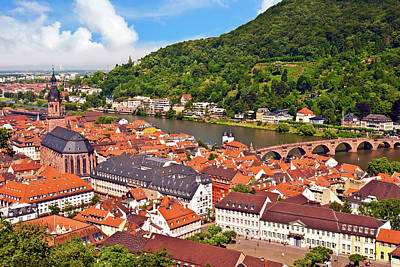 Chateau Photograph - Heidelberg, Germany, A View Of The City by Miva Stock