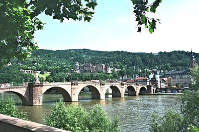 Photograph - Heidelberg Schloss Overlooking The Neckar by Gordon Elwell