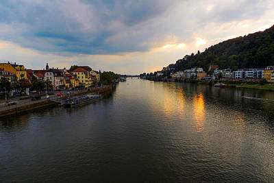 Photograph - Heidelberg's River Neckar by Marilyn Burton